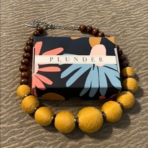 Plunder Mustard Beaded Necklace